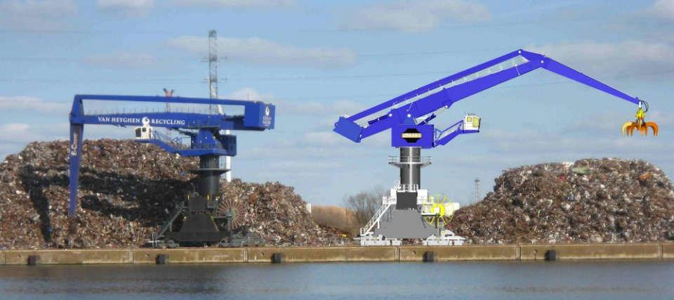 3D Simulation New E-Crane at Van Heyghen Recycling 4