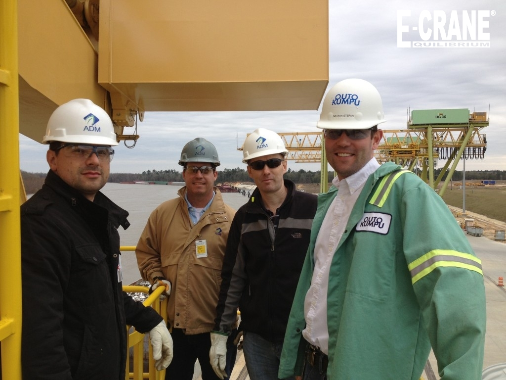 "There is a reason ""INTERNATIONAL"" is in our name. This photo shows E-Crane visitors at the Outokumpu plant in Calvert Alabama representing companies from; Finland, United States, Ireland and Brazil."