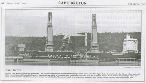 Cape Briton Post June 7, 05, Nova Scotia power