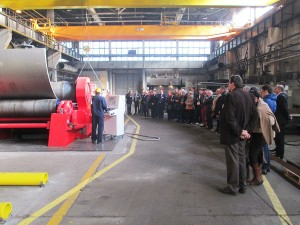 Official inauguration of the new plate rolling machine
