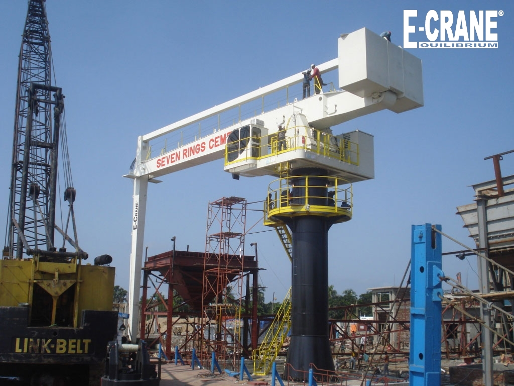 Dealer installed E-Crane at the Seven Circle Bangladesh Ltd. cement grinding mill.