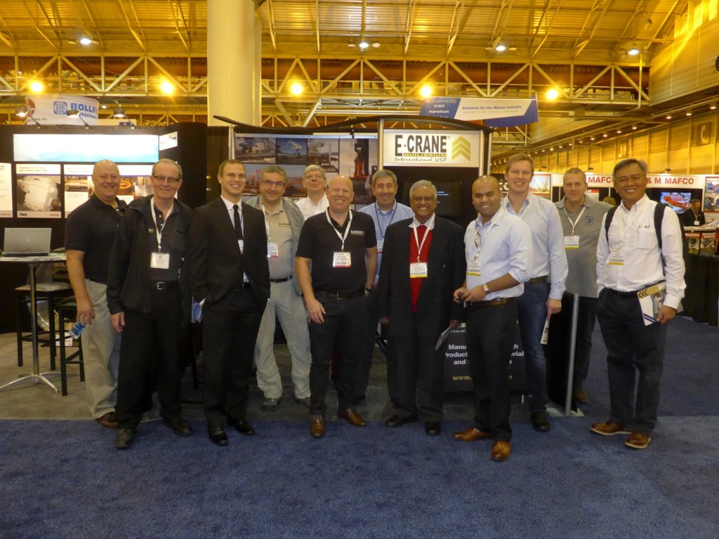 E-Crane was well represented at the WorkBoat Show