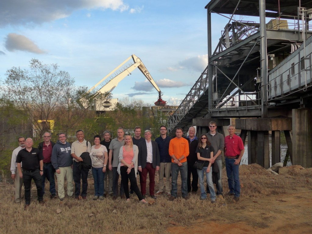 Day 2: E-Crane guests visit a 2000 Series E-Crane at the Charles R. Lowman Plant in Leroy, Alabama.  E-Crane would like to thank the team at Lowman for the warm welcome received.