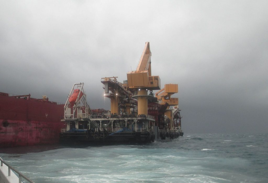 "Recently, E-Crane technicians were supporting our products on a floating transfer station in the Indian Ocean.    ""Working at E-Crane brings something new everyday and even stormy weather cannot keep us from providing services to our customers worldwide."" Bart De Vrieze - E-Crane Engineer"