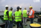 Guided tour of the ship by Mr. Lyssens, Rickmers Linie Belgium NV