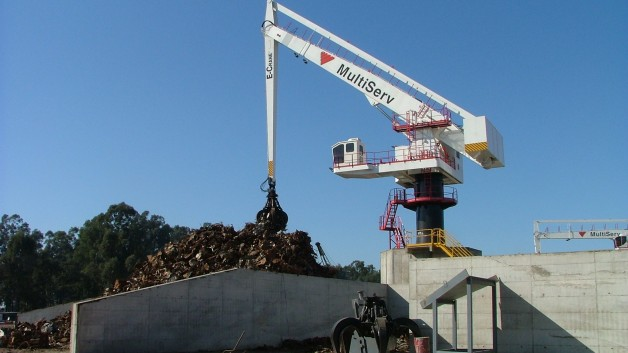 1000 Series E-Crane at Harsco Metal's Acindar steel mill in Argentina
