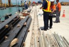 Inspection of the jetty by Holcim and E-Crane personnel