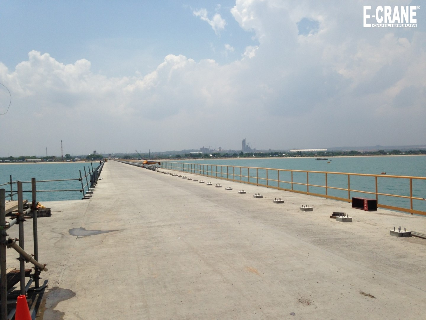 View of the new cement plant from the jetty